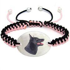 Australian Kelpie Mother Of Pearl Natural Shell Adjustable Knot Bracelet Bs271