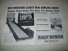Bally Bowler Poster Sized Big Ball Bowing Alley Game Sales Flyer Brochure 1961