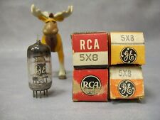 5X8 Vacuum Tubes  Lot of 4  GE / RCA