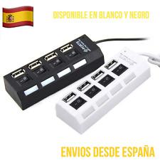 HUB USB 4 Puertos Con Interruptores Y Luz Alta Velocidad Buena Calidad!!!!!