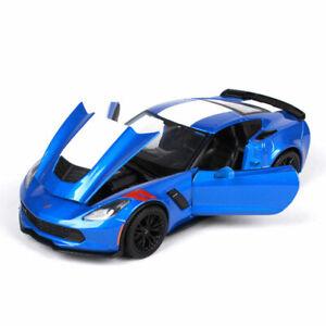 1:24 2017 Chevrolet Corvette Grand Sports Collectible Model Car Diecast Blue