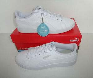 Puma New Ladies White Casual Womens Lace Up Trainers Shoes RRP £50 UK Size 5