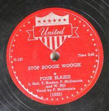 Hear! R&B 78 Four Blazers - Stop Boogie Woogie / Please Send Her Back To Me On U
