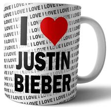 I Love Justin Bieber Tea - Coffee - Mug - Cup Birthday - Christmas - Gift