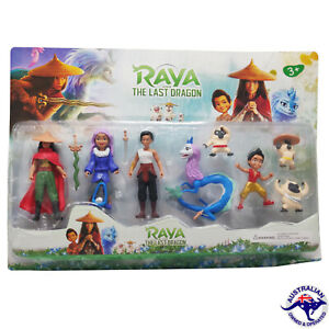 8PC Set Raya and The Last Dragon Figurine 10CM Kids Toy Gift Sisu Namaari