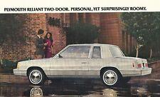 1982 Plymouth RELIANT K Sales Brochure / Catalog : WAGON,