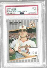 Billy Ripken 1989 Fleer Black Box Over Error PSA 7--Orioles