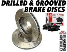 HONDA Civic Type S, CR-V DRILLED & GROOVED BRAKE DISCS FRONT & FERODO BRAKE PADS