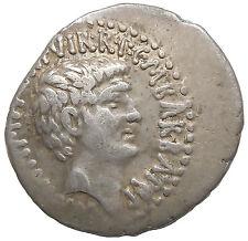 Mark Antony and Octavian Augustus Denarius Ephesos Mint M.Barbatius Pollio