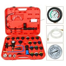New 28PCS RADIATOR PRESSURE TESTER KIT COOLANT VACUUM PURGE REFILL WITH ADAPTERS