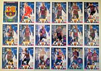 MATCH ATTAX UEFA CHAMPIONS LEAGUE 2018/19 FULL SET OF ALL 18 FC BARCELONA CARDS