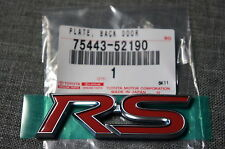 Toyota RS Rear 5th Door Badge / Plate / Emblem JDM for Yaris, Vitz, etc.