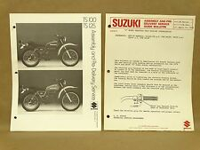 Vintage Suzuki TS100 TS125 Set Up Manual Assembly Service Pre Delivery Guide