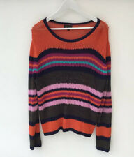 Topshop Size 16 Knit Look Slouchy Jumper Sweater Hippy Boho Striped