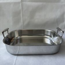 New listing All Clad Heavy Duty Stainless Steel 11 X 14 Roaster Roasting Pan
