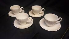 Johnson Brothers Set of 4 Cups &  Saucers Regency Swirl Pattern England