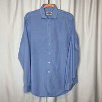 Men's Calvin Klein Long Sleeve, Collared,  Blue/White Checkered Shirt 16.5 34/35