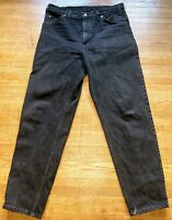 VTG Men's 80s/90s LEVIS 550 Orange Tab Black Denim Jeans Pants 34x30 USA MADE