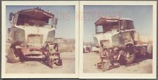 Vintage Photos Unusual Early 1960s Mack COE Truck Wreck 723430
