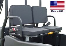 John Deere Gator Rear Addon Seats - 350 Lb Cap - Safety Belts - Install Brackets
