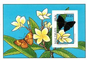 VINTAGE CLASSICS - Maldives 1907 - The Black Prince Butterfly  - S/S - MNH