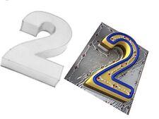 EuroTins Large Number 2 TWO Cake Baking Tin Pan 2nd Second Birthday Anniversary