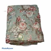 Vintage Ralph Lauren Charlotte Floral Sage Green F/Q Full Queen Duvet Cover