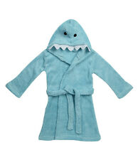 Zest Baby Animal Shark Fleece Hooded Bathrobe Blue 18-24 Months