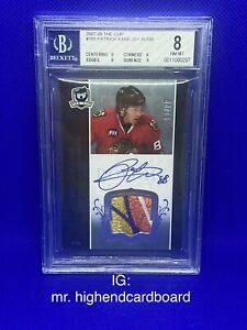 2007-08 The Cup Patrick Kane Rookie Patch Auto /99 BGS 8 Rare 5 Color