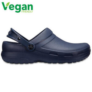Crocs Specialist II Mens Womens Blue Medical Chef Work Clogs Vegan Shoes Size