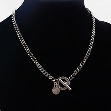 HOT MARC BY MARC JACOBS BLACK CLASSIC HOLLOW LETTERS LOCK NECKLACE #N6293
