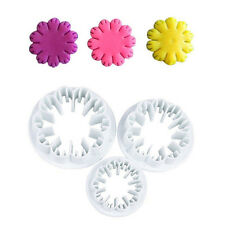 3Pcs/set Carnation Flower Cake Fondant Sugarcraft Mold Cutter Decor Baking Tools
