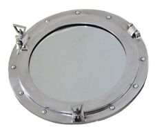 Aluminum Finish Porthole Nautical Boat Ship Window Porthole W/Round Mirror-24""