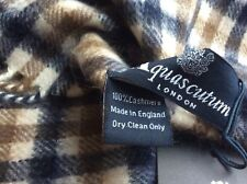 Aquascutum Pure 100% Cashmere Scarf New With Tags