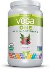 Vega 24.3 oz All-In-One Berry Organic Shake Mix  - Exp 3/22 18 Servings