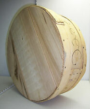 Vintage Antique 1988 Large Round Wooden Cheese Box from KRAFT Foods Home Decor