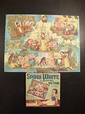 RARE VINTAGE PUZZLE JIG SAW SNOW WHITE BLANCHE NEIGE DISNEY COMPLET +400 Pcs