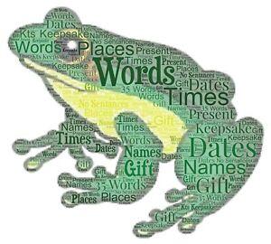 word art picture personalised gift present keepsake Frog