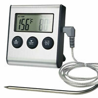 Remote Digital Cooking Meat Thermometer with Probe For Grill Oven BBQ Timer