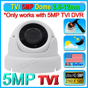 5MP TVI Chipset HD 2.8-12mm Video CCTV Weatherproof Outdoor Dome Camera IR