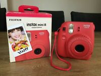 FUJIFILM Raspberry Retro Instax Mini 8 Instant Film Camera Polaroid - Boxed