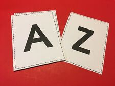"ALPHABETS  - 26 Classroom Flashcards / Binder Insert 8.5""x11"""