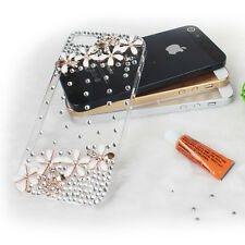 Luxury Crystal Rhinestone Diamond Bling Flower Cover Case for iPhone 5