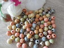 (9) 100 Perlen Kunststoff 8 mm Kreuz Kirche Gothik bunt Kette Basteln Armband