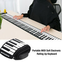 88-Keys Flexible Roll Up Piano Foldable Keyboard Hand Rolling Silicon Kids Gift