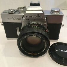 Minolta SRT 202 Camera + 2 lens 50mm  & Tele 135 mm +++ clean, tested, working