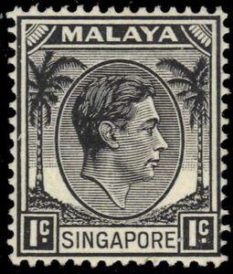 "SINGAPORE 1 - King George VI ""perf 14.0 x 14.0"" (pb37289)"