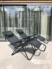 More details for x2 zero gravity reclining & folding sun lounger chair - ultimate comfort!