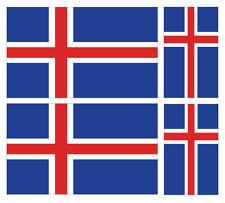 4 X ICELANDIC ICELAND FLAG VINYL CAR VAN IPAD LAPTOP STICKER