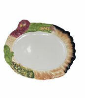 """Large Turkey Platter 18"""" X 14"""" Thanksgiving Christmas * Has A Few Chips"""